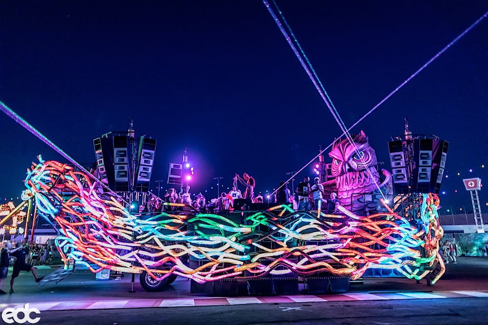 EDC Las Vegas 2017 Parliament art-car