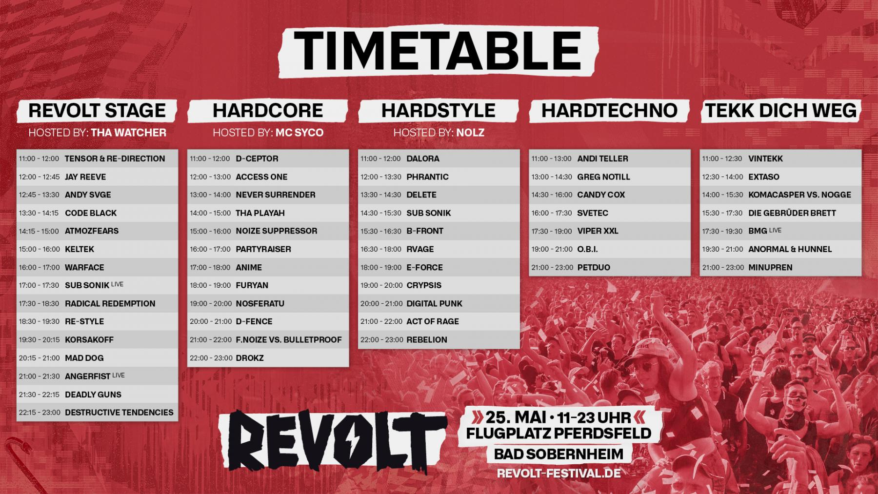 Check out the OFFICIAL TIMETABLE!