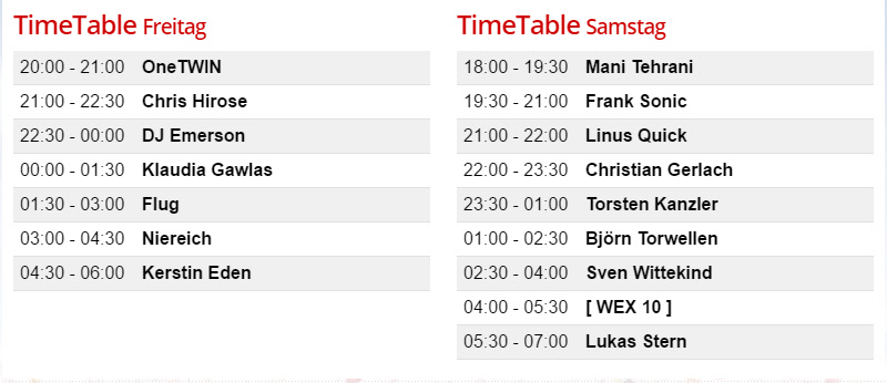 Timetable Abstract