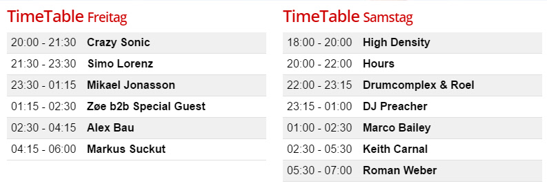 Timetable BLAKKSHEEP/FLEX