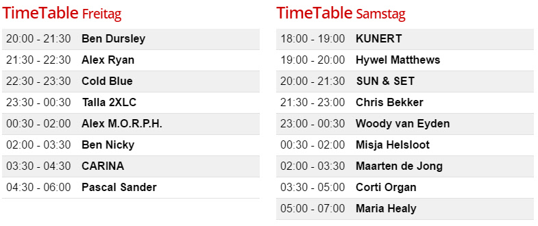 Timetable Heavensgate